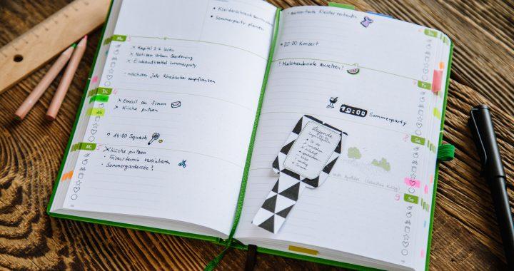 Terminkalender und To-Do-Listen in einem? Das geht mit dem Bullet Journal! Bring die Ideen der Bullet-Journal-Methode auch in deinen Grünen Faden.