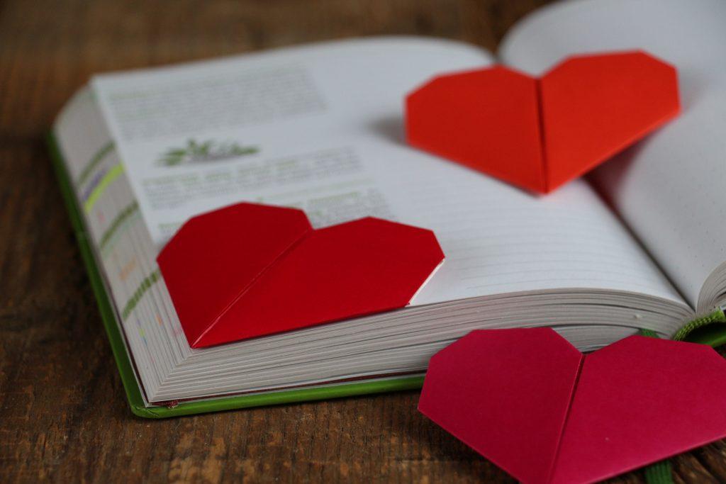 Herzchen-Lesezeichen
