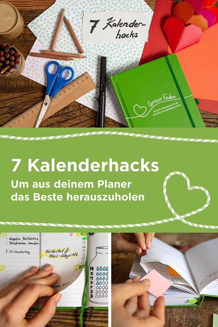 7 einfache Kalenderhacks, mit denen du deinen Taschenkalender noch viel nützlicher machst. Mehr Platz, immer die richtige Seite finden, Geheimfächer und mehr