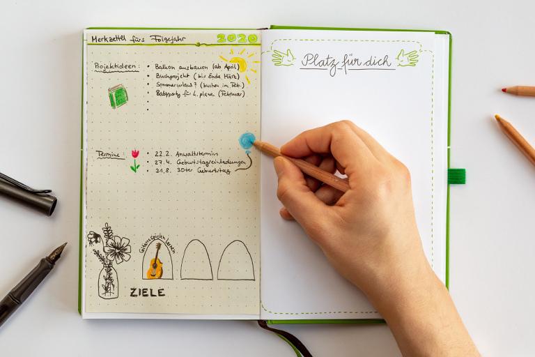 Der neue Kalender ist noch nicht da, aber du hast schon Termine, Projekte oder Ideen fürs Folgejahr im Kopf? Hier gibt's die Lösung zum Vorausplanen.