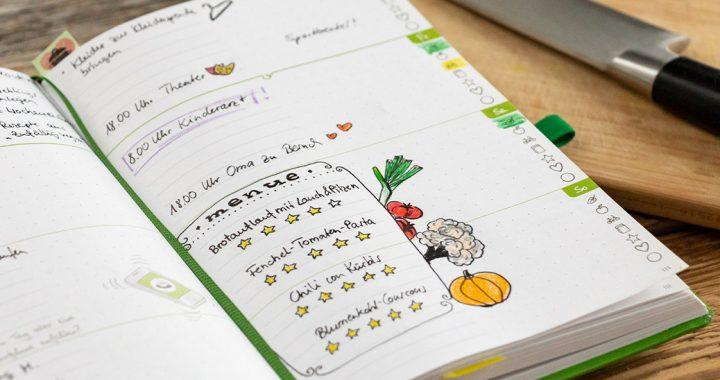 Halte all deine zubereiteten Gerichte in einem Kalender wie dem Grünen Faden fest und bewerte sie - für eine ultimative Liste gesammelter Lieblingsrezepte!